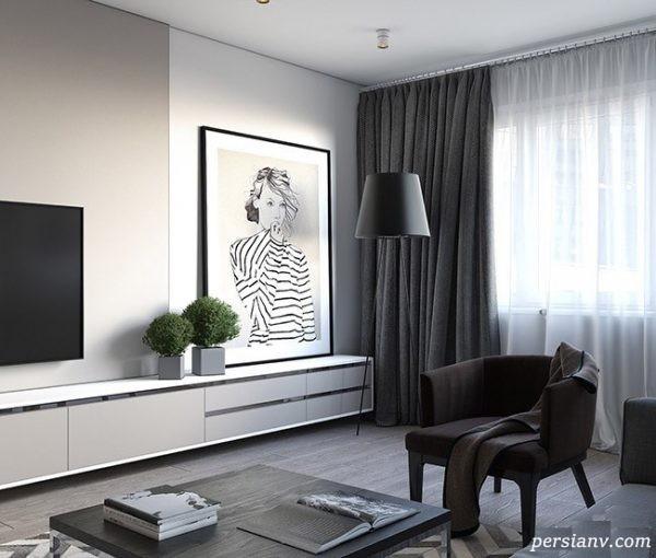 چیدمان داخلی بی نظیر یک آپارتمان کوچک ۷۰ متری + تصاویر