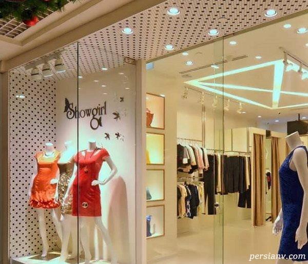 چیدمان زیبای یک مغازه پوشاک زنانه + تصاویر