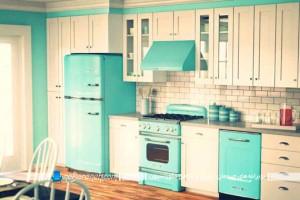 دکوراسیون آشپزخانه هایی به سبک ایرانی و با رنگهای شاد و متنوع+تصاویر