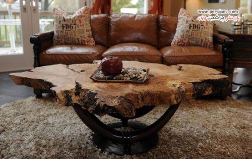 مدل های میز پذیرایی چوبی با طراحی های خاص و متفاوت +عکس