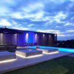 نورپردازی استخر خانه های مدرن باید اینگونه باشد+تصاویر