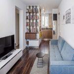 چیدمان داخلی جالب یک خانه کوچک ۵۵ متری+تصاویر