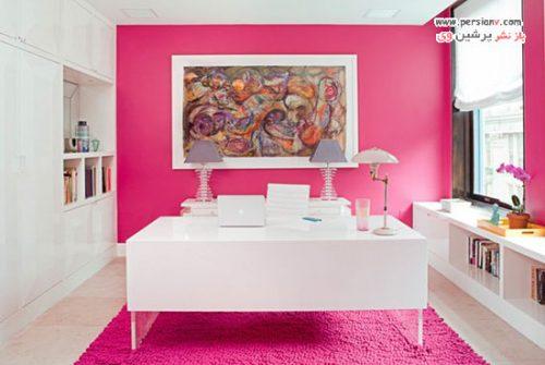 دکوراسیون منزل به رنگ صورتی تند