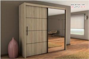 کمد دیواری با مدل های بسیار شیک و مدرن در اتاق خواب +عکس