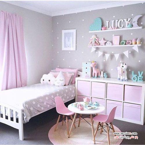 دکوراسیون اتاق کودک دخترانه