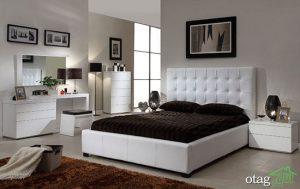 دکوراسیون زیبای سرویس خوابهای سفید و مدرن  تصاویر
