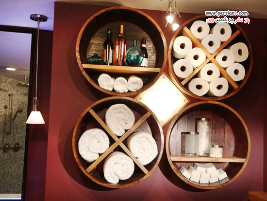 حمام و سرویس بهداشتی با طراحی به سبک زیبای روستیک +عکس