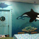 نقوش دیواری جذاب و گیرا در اتاق خواب کودک +عکس