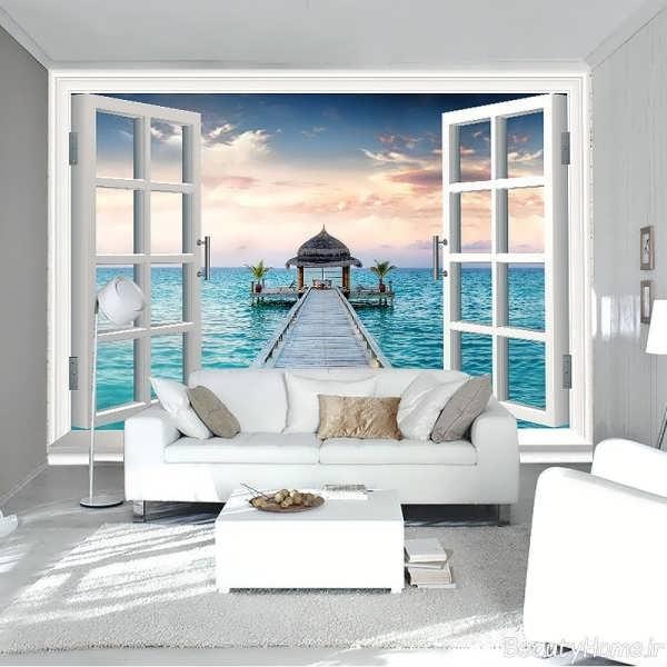 کاغذ دیواریهای شیک و زیبایی که دیوارهای خانه تان را نو نوار می کنند+تصاویر