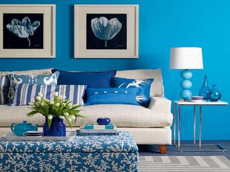 چه رنگهایی برای اتاق نشیمن به کار ببریم + تصاویر