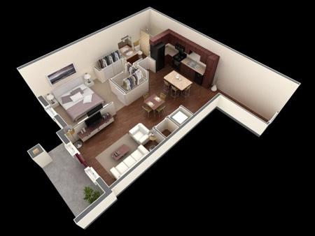 طراحی و چیدمان  مدرن آپارتمان های یک خوابه+تصاویر