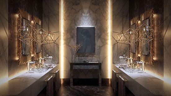 طراحی متفاوت و زیبا از لوکس ترین حمام ها+ تصاویر
