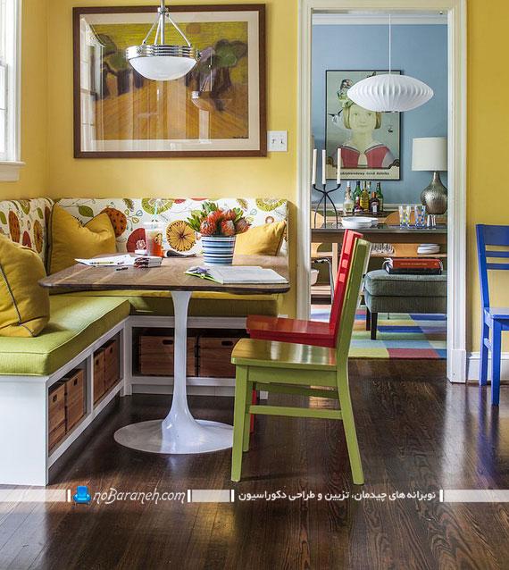 اگر خانه ای کوچک دارید میزناهارخوریتان را به شکل ال درآورید+ تصاویر
