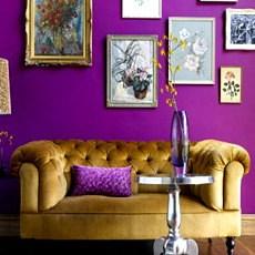 خانهآرایی با رنگ بنفش