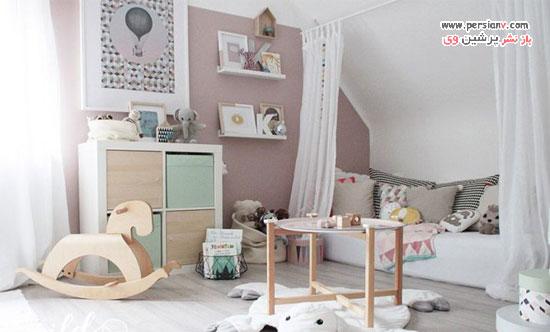 دکوراسیون اتاق کودک دخترانه   بسیار بانمک و دوست داشتنی +عکس