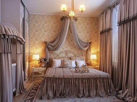 مدل اتاق خواب لوکس با دکوراسیون سلطنتی + تصاویر