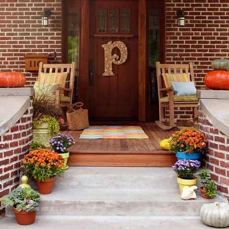 ایده هایی برای تزئین بالکن و ورودی خانه ها+ تصاویر
