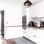 طراحی آشپزخانه متفاوت و زیبا با سرامیک های شش وجهی +عکس