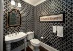 دیزاین مشکی فوق العاده شیک حمام و دستشویی + تصاویر