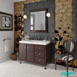 پانل های دیواری دی ۳ بهترین گزینه برای دادن جلوه ای زیبا به حمام خانه +تصاویر