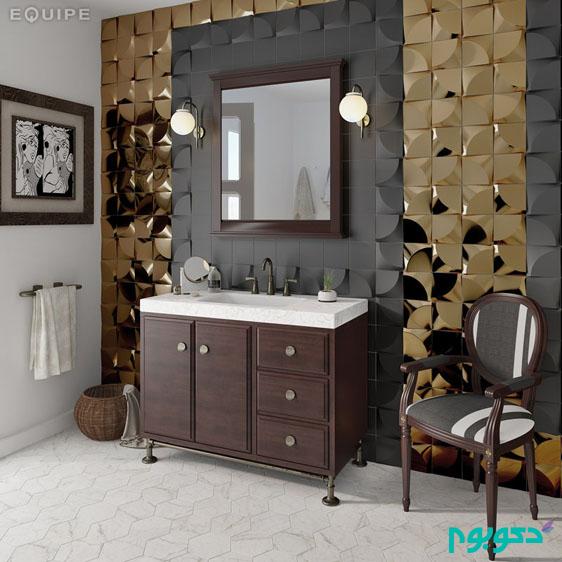 پانل های دیواری دی 3 بهترین گزینه برای دادن جلوه ای زیبا به حمام خانه +تصاویر