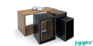 میزهای چوبی مدرن و جاداری که مناسب فضاهای کوچک است+تصاویر