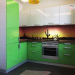 دکوراسیون آشپزخانه های زیبا به رنگ سبز +عکس