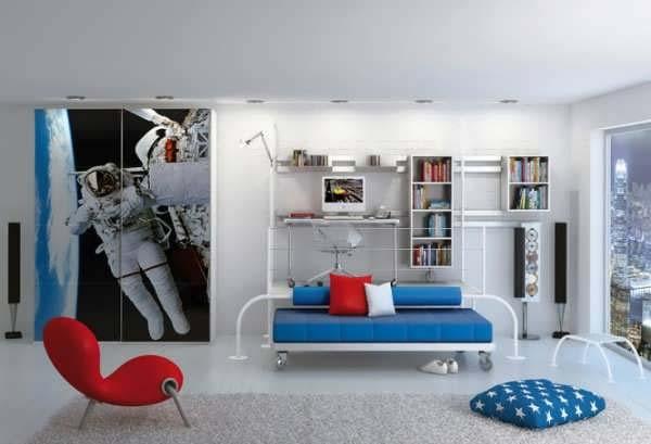 دکوراسیون اتاق خواب پسرانه لوکس با روش های مدرن دنیا+تصاویر