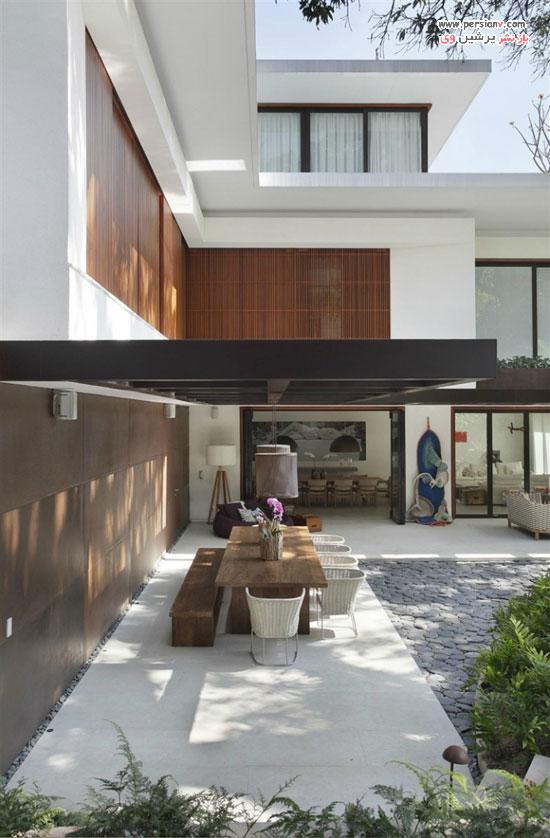 دکوراسیون یک خانه زیبا و راحت استخردار در ریودوژانیرو +عکس