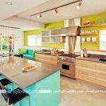 آشپزخانه ایرانی با رنگهای جذاب و مدرن + تصاویر