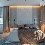 دکوراسیون اتاق خواب با دیوار بتونی شیک و منحصر به فرد +عکس