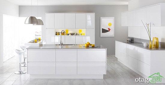 کابینت سفید هر آشپزخانه ای را شیک و دلپذیر می کند+تصاویر