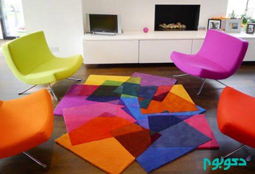 اتاق نشیمن خود را با رنگهای تند و شاد دلنشین تر کنید+تصاویر