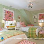 با اتاق خوابی به رنگ سبز یاد جنگلها را در خانه خود زنده نمائید+تصاویر