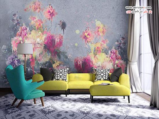 نقاشی های دیواری به سبک بوهمیایی برای جذابیت نمای منزل