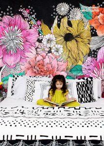 کاغذدیواری های گلدار باشکوه ایده ای برای لوکس کردن منزلتان! +عکس