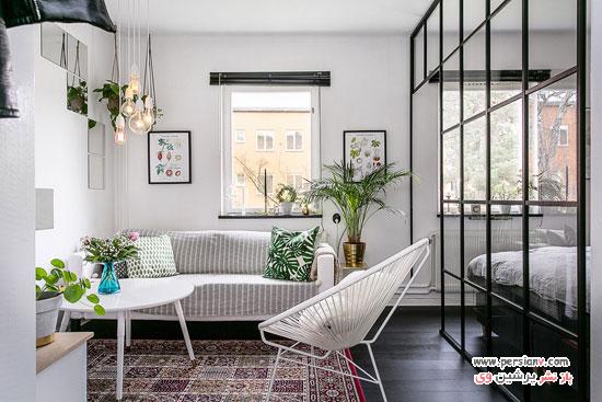 دکوراسیون اسکاندیناوی یک آپارتمان