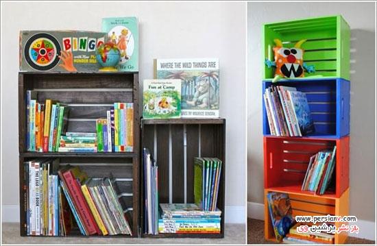قفسه کتاب در اتاق کودک