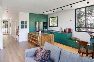 ایده ای جدید برای طراحی آپارتمان کوچک با تم سبز
