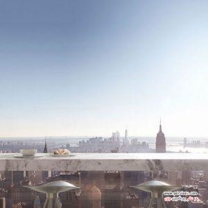 طراحی داخلی آپارتمان لوکسی در نیویورک با چشم اندازهای فوق العاده نفس گیر