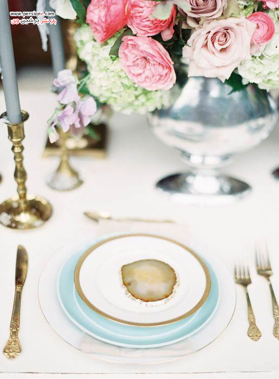 ظروف تزئینی با سنگ زینتی ژئود