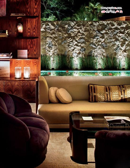 نمایی از طراحی اتاق نشیمن در خانه سلبریتی های معروف !