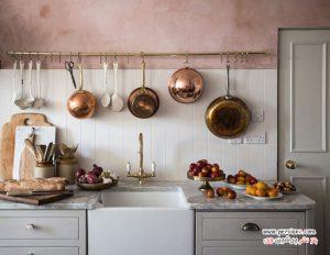 ایده های جالب از نحوه استفاده از رنگ صورتی در دکوراسیون آشپزخانه