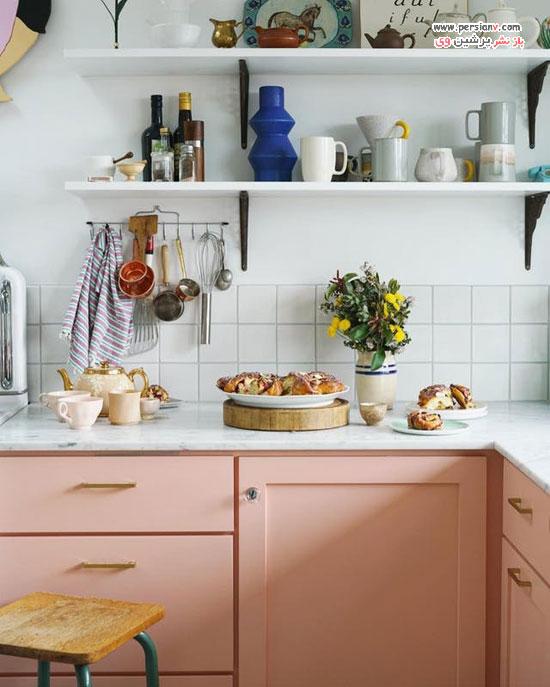 دکوراسیون آشپزخانه به رنگ صورتی