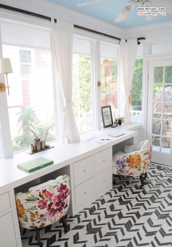 ایده های شیک و زیبا برای دکوراسیون اتاق کار در منزل