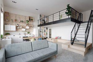 استفاده بهینه از فضا در چیدمان آپارتمان اسکاندیناوی