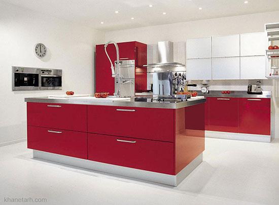 10 مدل دکوراسیون داخلی آشپزخانه رنگارنگ