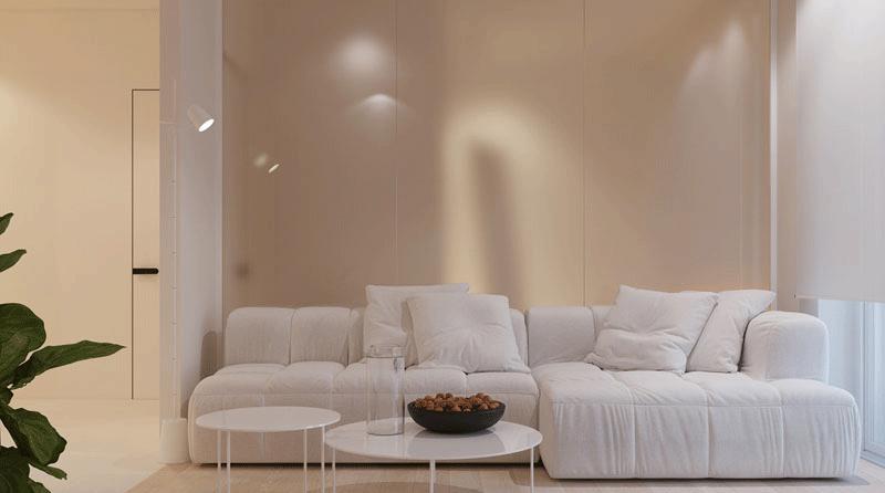 طراحی داخلی آپارتمانی یک خوابه و ۵۲ متری
