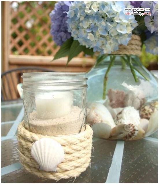 طراحی و دکور شمع در منزل