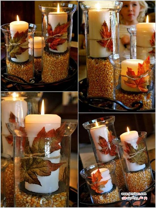 چیدمان میز قهوه در پاییز